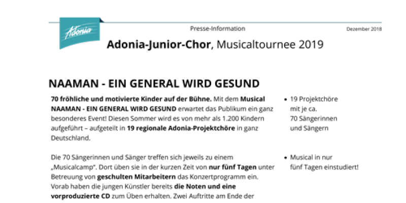 Presseinfos Junior Naaman